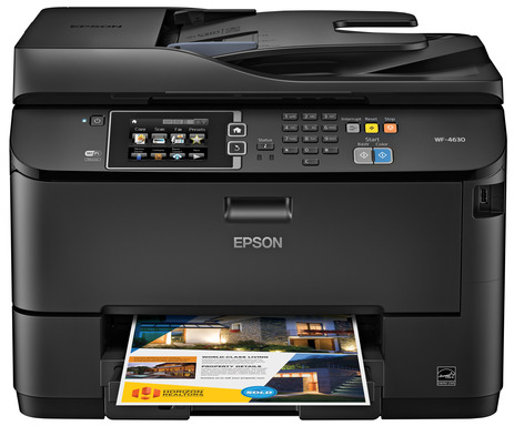 The heavy-duty Epson WorkForce Pro WF-4630 powered by PrecisionCore produces laser-quality, high-speed prints for busy workgroups.