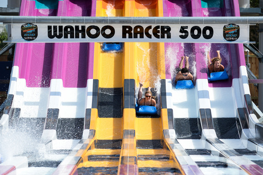 Wahoo Racer's unique design allows riders to enjoy two different adrenaline-charged experiences on one massive structure, including racing down the multi-lane slide.