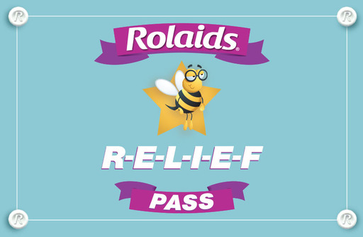 "Rolaids ""Eat Your Words"" Spelling Bee Relief Pass"
