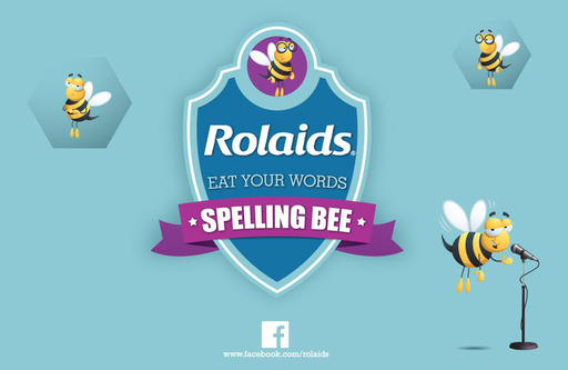 "Rolaids ""Eat Your Words"" Spelling Bee Badge"