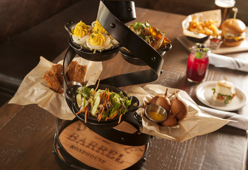 Double Barrel's menu features American classics with a twist, highlighted by signature dishes that are ideal for sharing such as Buffalo Chicken Sliders, Mini Corn Dogs and Crispy BBQ Spring Rolls.