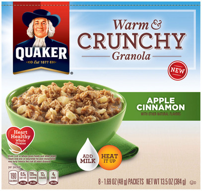 Quaker's Apple Cinnamon Warm & Crunchy Granola