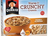 Quaker's Honey Almond Warm & Crunchy Granola