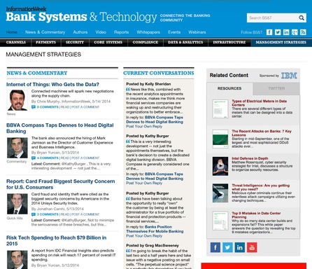Bank Systems & Technology provides a one-stop destination for the latest news, commentary, and discussion on the technologies and trends that are shaping the financial services landscape.