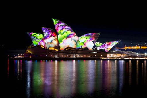 Vivid Sydney lights up Sydney Opera House