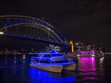 Vessels light up Sydney Harbour as part of Vivid Sydney 2014