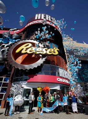 Hershey's Chocolate World retail experience opened at New York-New York Hotel & Casino on June 3, 2014 in Las Vegas. The 13,000-square-foot store has more than 800 different Hershey's candy and chocolate offerings and interactive experiences for visitors.