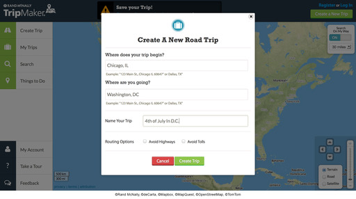With just a few clicks, create your ultimate road trip