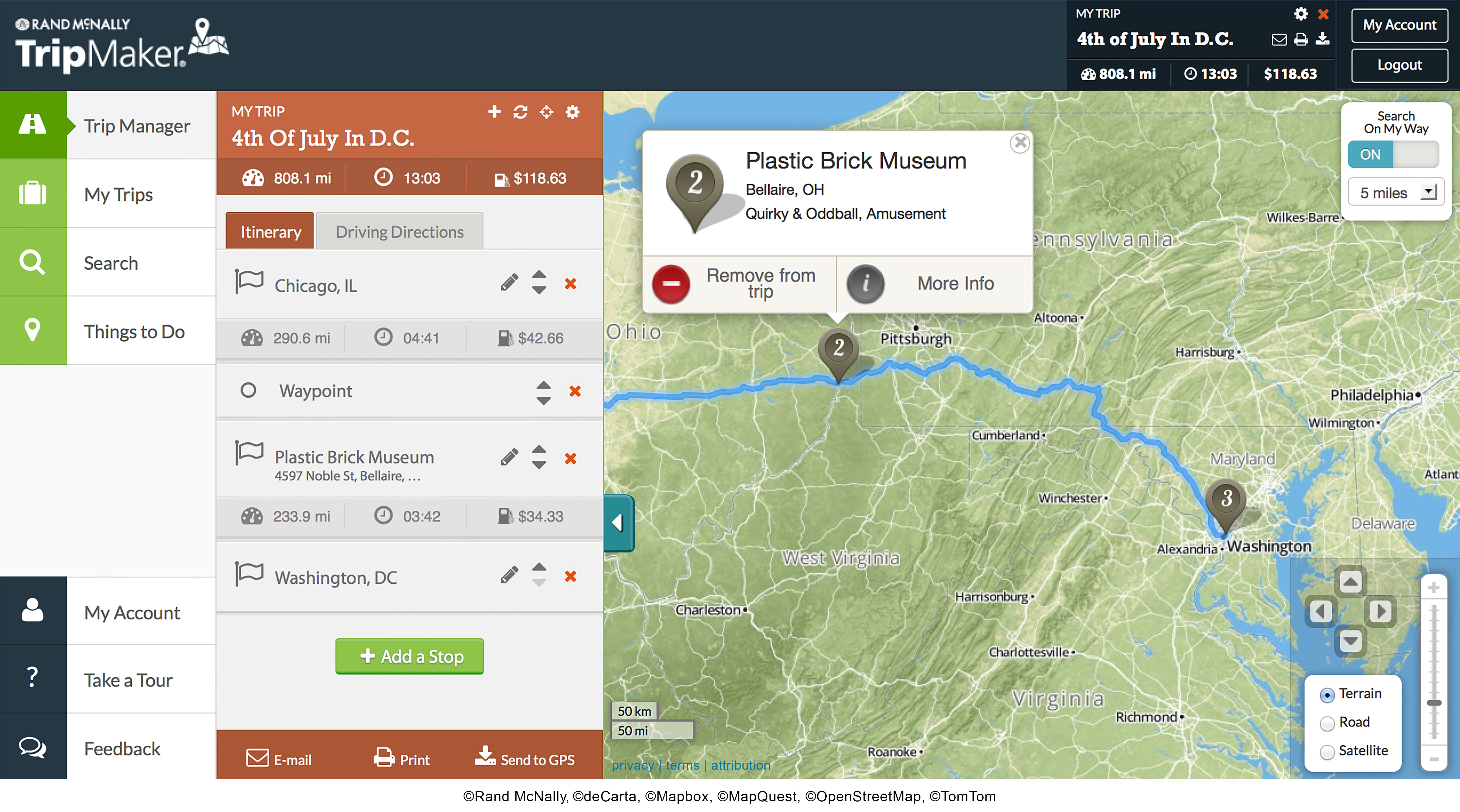 Rand McNally Launches AllNew Trip Planning Tool TripMaker – Travel Itinerary Map Maker