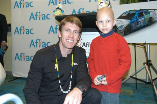 Aflac NASCAR driver Carl Edwards and Dalton