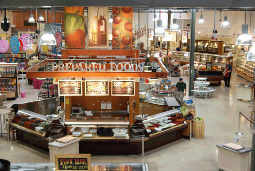 Prepared foods aerial