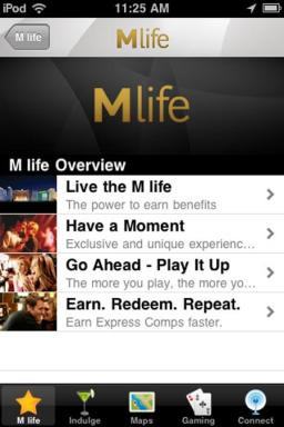 M life Mobile App Entry Screen – MGM Resorts International