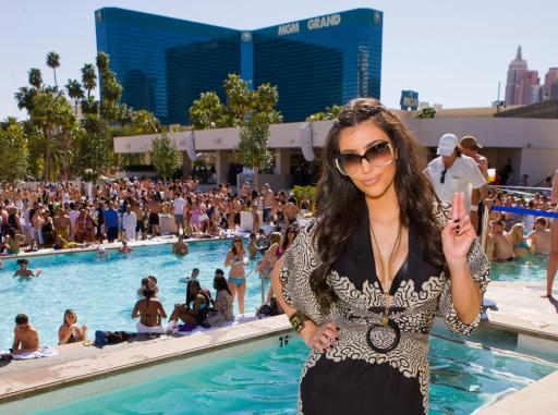 Kim Kardashian at MGM Grand