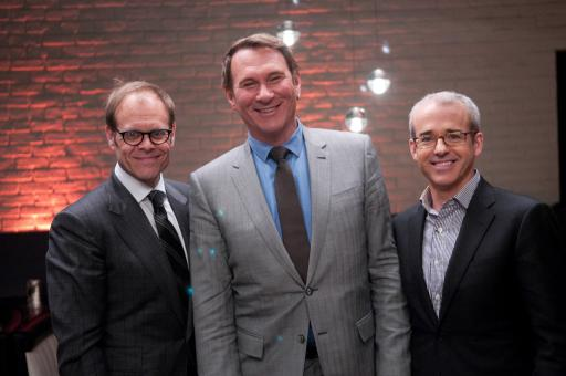 Alton Brown, Hal Rubenstein and Jess Cagle