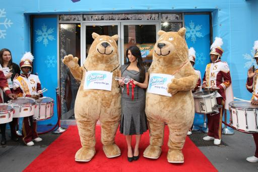 Charmin Restrooms Open in Times Square with Kim Kardashian