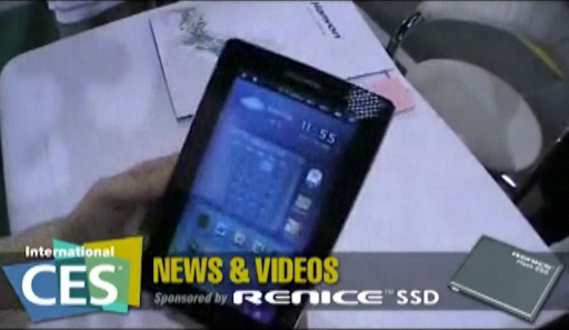 Hanvon HPad A116 Android tablet at CES 2011