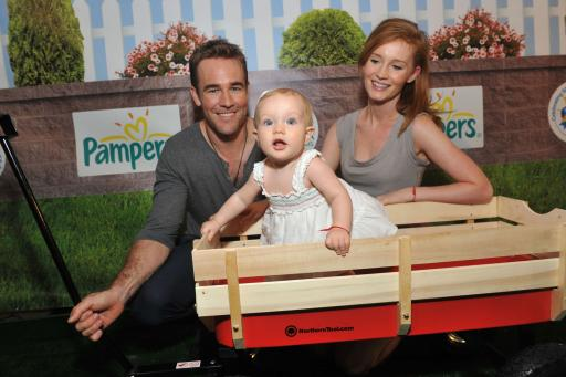 Celebrity dad James Van Der Beek
