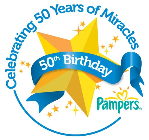 Pampers 50th Anniversary Logo