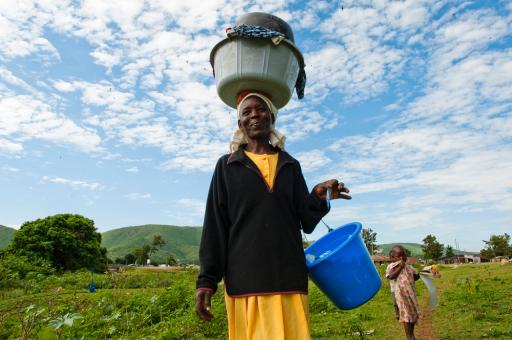 Women Collect Water to Purify
