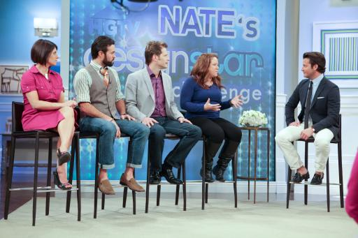 HGTV Design Star finalists on-stage with Nate on The Nate Berkus Show