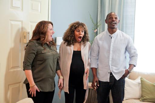 Homeowners Andre and Latoya react to HGTV Design Star finalist Meg Caswell's room design