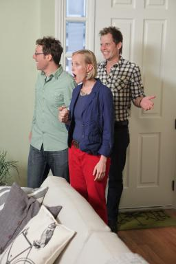 Homeowners John and Liz react to HGTV Design Star finalist Karl Sponholtz' room design