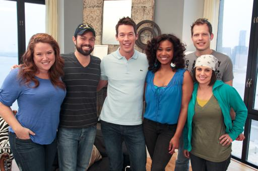 HGTV Design Star Finalists with mentor David Bromstad and host Tanika Ray