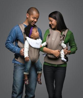 Organic-Tan BABY CARRIER (lifestyle)
