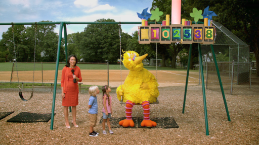 Ann Curry & Big Bird in Sprout PSA