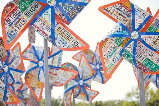 Pinwheels close-up