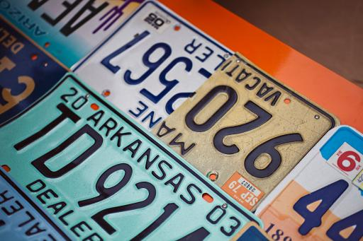 License plate close-up