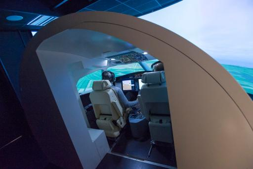 """The Falcon 5X performed its first simulated bench"". Credit: Dassault Aviation/Philippe Stroppa"