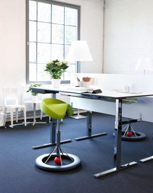 Back App Ergonomic Chair Profile + Sit/stand Desk