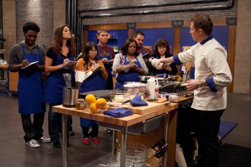 Bobby Flay teaches his team