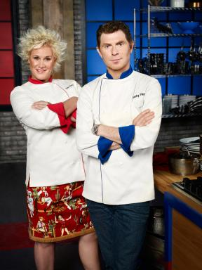 Chef Anne Burrell and Chef Bobby Flay