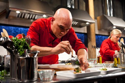Iron Chefs Michael Symon &amp; Cat Cora
