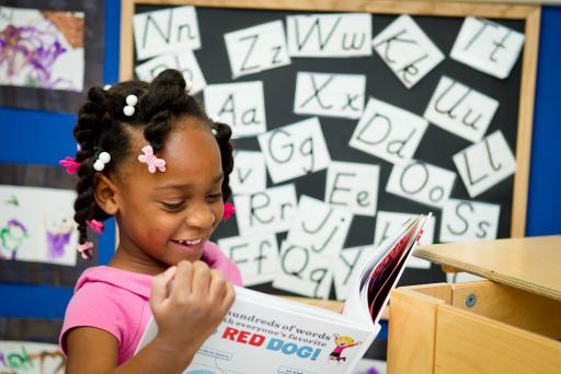 Child begins independent reading