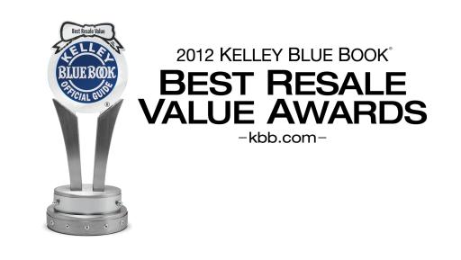 2012 Kelly Blue Book Best Resale Value Awards