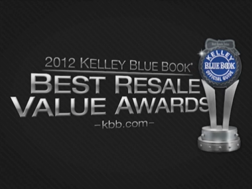 Kelley Blue Book Best Resale Value Awards 2012