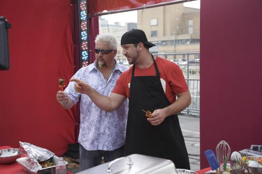 Guy Fieri and Joey Fatone
