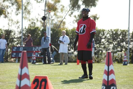 Deion Sanders at the Bridgestone commercial shoot