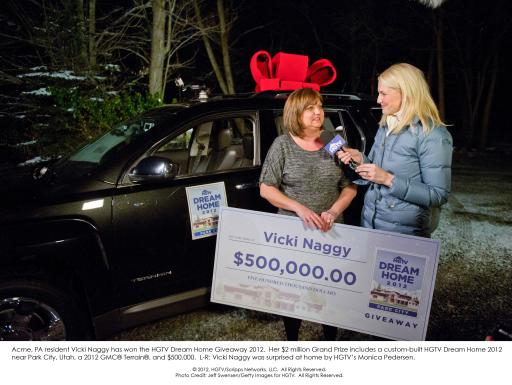 Vicki Naggi wins HGTV Dream Home Givewaway 2012