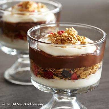 Yogurt with Chocolate Hazelnut and Granola