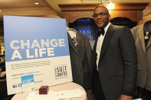 Tyler Perry Supports National Suit Drive