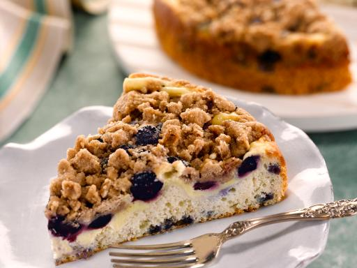 Very Blueberry Cheese-Filled Crumb Cake