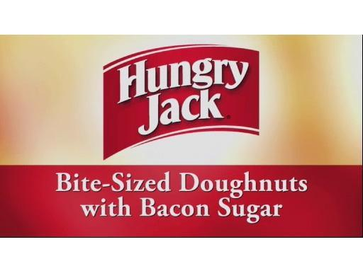 Bite Sized Doughnuts with Bacon Sugar