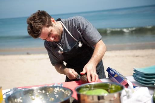 Marcel Vigneron cooking
