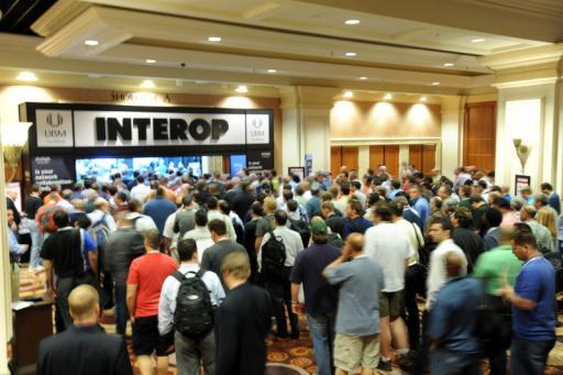 Interop's bustling show floor