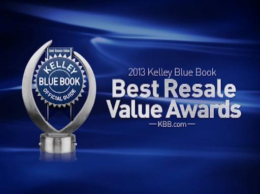 2013 Kelley Blue Book Best Resale Value Award Winners