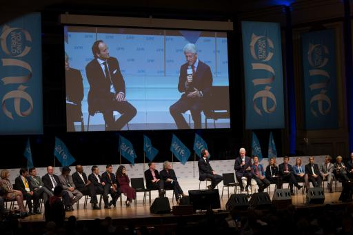 David Jones, President Clinton and One Young World Counselors